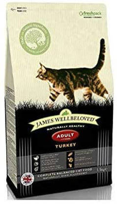 Picture of James Wellbeloved Adult Cat Turkey and Rice 1.5kg